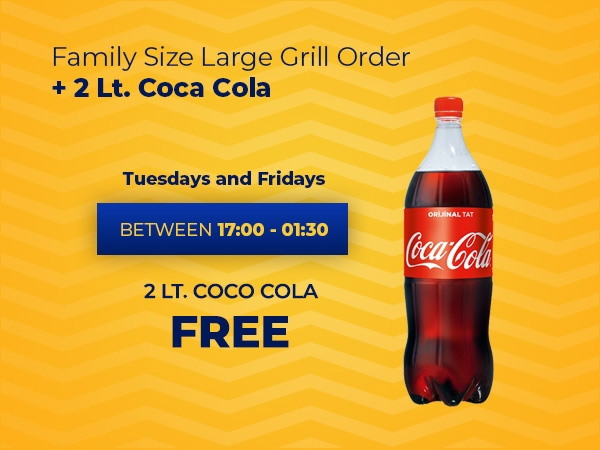 Family Size Large Grill Order + 2 Lt. Coca Cola